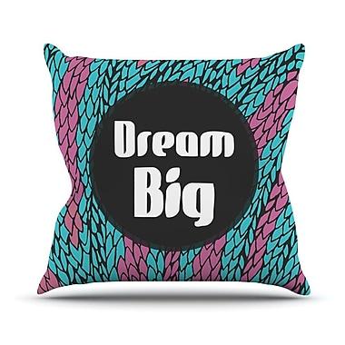 KESS InHouse Dream Big Outdoor Throw Pillow