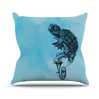 KESS InHouse Turtle Tuba III Outdoor Throw Pillow