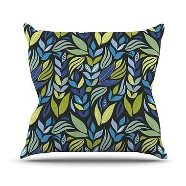 KESS InHouse Underwater Bouquet Outdoor Throw Pillow; Night