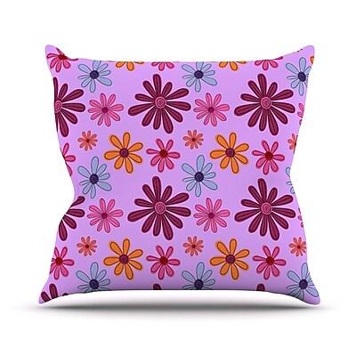 KESS InHouse Woodland Floral Outdoor Throw Pillow