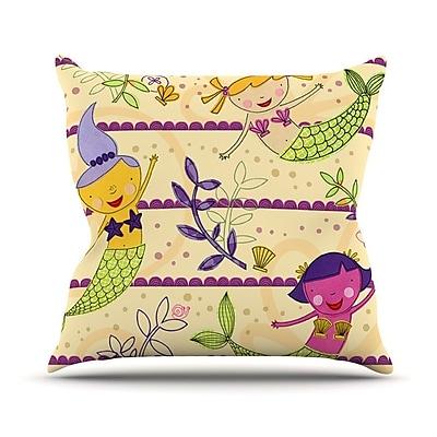 KESS InHouse Under the Sea Outdoor Throw Pillow