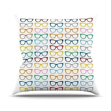 KESS InHouse Rainbow Specs Outdoor Throw Pillow