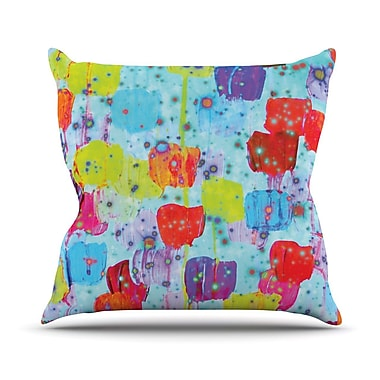 KESS InHouse Speckle Me Dotty Outdoor Throw Pillow