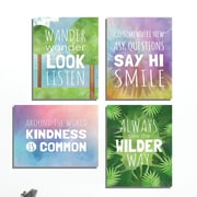 KindredSolCollective 'Wilder Way' 4 Piece Graphic Art Set