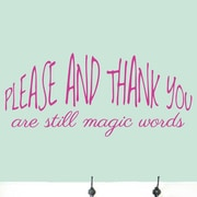 SweetumsWallDecals Please And Thank You Wall Decal; Hot Pink