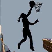 SweetumsWallDecals Basketball Layup Wall Decal; Black