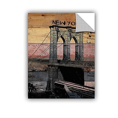 ArtWall Old Brooklyn Bridge by Irena Orlov Wall Mural; 18'' H x 14'' W x 0.1'' D