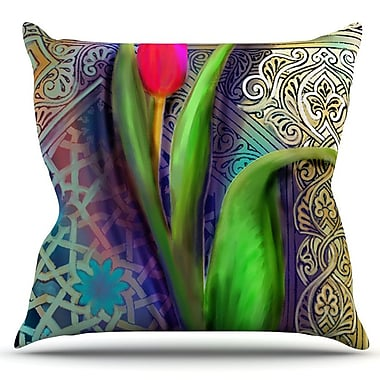 KESS InHouse Arabesque Tulip by S. Seema Z Outdoor Throw Pillow