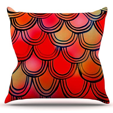 KESS InHouse Tail by Theresa Giolzetti Outdoor Throw Pillow; Red