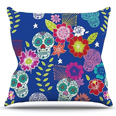 KESS InHouse Day of the Dead by Anneline Sophia Outdoor Throw Pillow