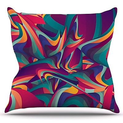 KESS InHouse Wrong Past by Danny Ivan Outdoor Throw Pillow