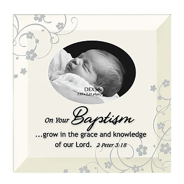 Dexsa Simple Expressions ''Baptism'' Beveled Glass Picture Frame