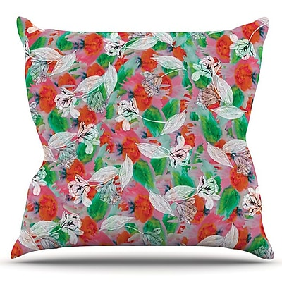 KESS InHouse Flying Tulips by Akwaflorell Outdoor Throw Pillow