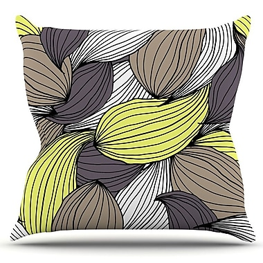 KESS InHouse Wild Brush by Gabriela Fuente Outdoor Throw Pillow