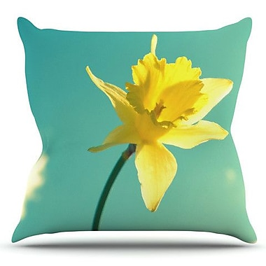 KESS InHouse Daffodil by Robin Dickinson Outdoor Throw Pillow