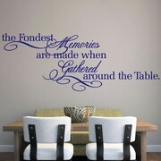 SweetumsWallDecals The Fondest Memories Wall Decal; Navy