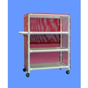 Care Products, Inc. Deluxe Wide 3-Shelf Linen Cart w/ Cover