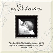 Dexsa ''Baby Dedication'' Beveled Glass Picture Frame