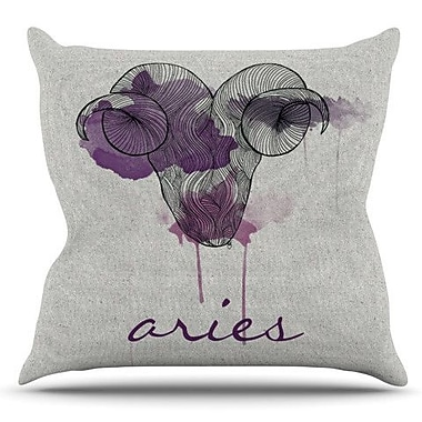 KESS InHouse Aries by Belinda Gillies Outdoor Throw Pillow