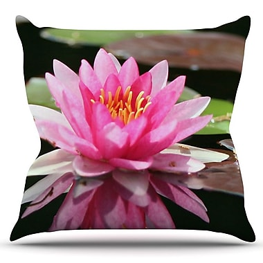 KESS InHouse Water Lily by Angie Turner Outdoor Throw Pillow