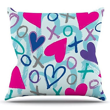 KESS InHouse Hearts a Flutter by Emine Ortega Outdoor Throw Pillow