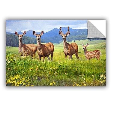 ArtWall Deer Family by Chris Vest Wall Mural; 16'' H x 24'' W x 0.1'' D