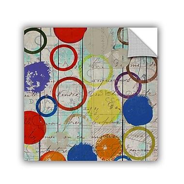 ArtWall Rainbow Circles I by Irena Orlov Wall Mural; 18'' H x 18'' W x 0.1'' D