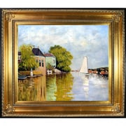 Tori Home Houses on the Achterzaan by Claude Monet Framed Painting Print