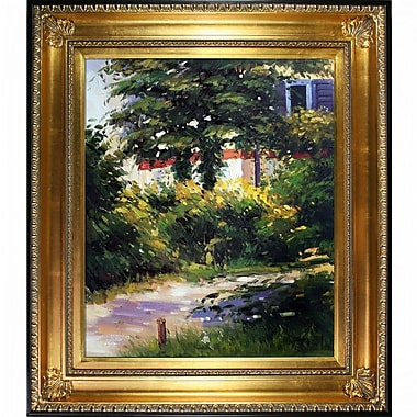 Tori Home Garden Path in Rueil by Edouard Manet Framed Painting Print on Wrapped Canvas