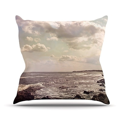 KESS InHouse Rocky Coast Outdoor Throw Pillow