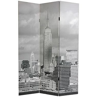 Oriental Furniture 70.88'' x 47.25'' New York Scenes 3 Panel Room Divider