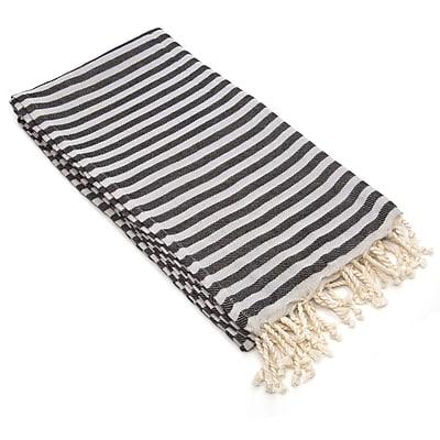 Linum Home Textiles Fun in the Sun Pestemal/Fouta Bath Towel; Charcoal Black