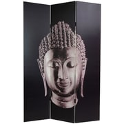 Oriental Furniture 70.88'' x 47.25'' Buddha 3 Panel Room Divider