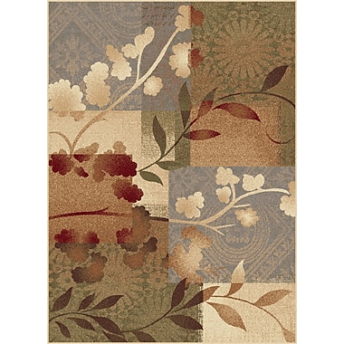 TayseRugs Impressions Blue Natural Collage Rug; Rectangle 7'10'' x 10'3''