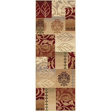 TayseRugs Impressions Red Multi Classic Collage Rug; Runner 2'7'' x 7'3''
