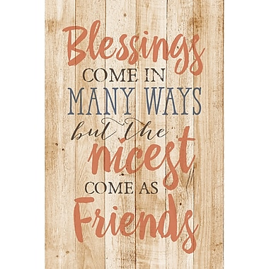 Dexsa ''Blessings Come in Many '' Textual Art Plaque