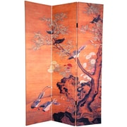 Oriental Furniture 72'' x 48'' Landscapes Double Sided Chinese 3 Panel Room Divider
