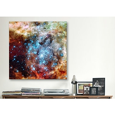 iCanvas Astronomy and Space ''Star Cluster on Collision Course'' Graphic Art on Wrapped Canvas