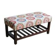 HomePop Fabric Storage Bench
