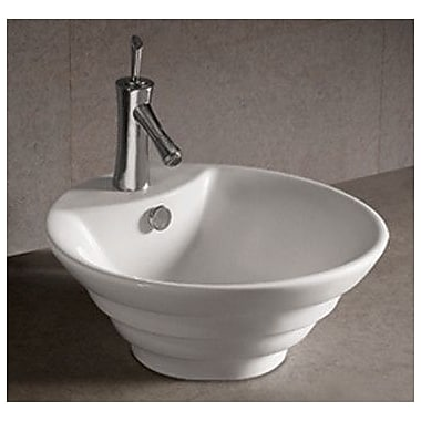 Whitehaus Collection Isabella Circular Vessel Bathroom Sink w/ Overflow