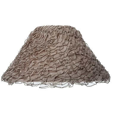 Ziqi Home 15.75'' Silk Empire Lamp Shade; Taupe