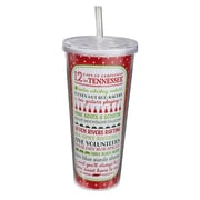 Occasionally Made Christmas State of Mind 12 Days in Tennessee 22 oz. Sipper Cup (Set of 2)