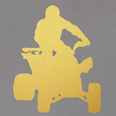 SweetumsWallDecals Four Wheeler Wall Decal; Gold