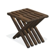 Glodea Xquare Side Table; Espresso Brown