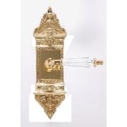 BRASS Accents L'Enfant Privacy Plate Set; Antique Brass