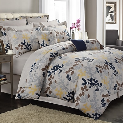 Tribeca Living Barcelona Egyptian-Quality Cotton 12 Piece Bed in a Bag Set; California King