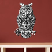 My Wonderful Walls Ornate Great Horned Owl by BioWorkZ Wall Decal; Small