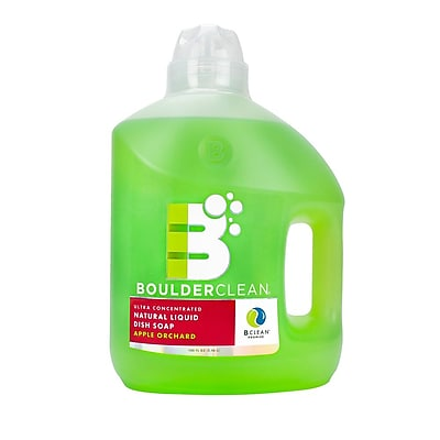 Boulder Clean Natural Liquid Dish Soap Refill, Apple Orchard, 100 oz