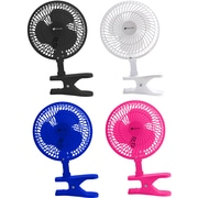 Avalon 6 Inch Clip-On Fan with Attachable Table-Top Base, Pink