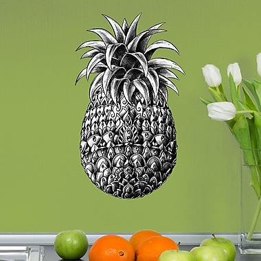 My Wonderful Walls Ornate Pineapple by BioWorkZ Wall Decal; Large